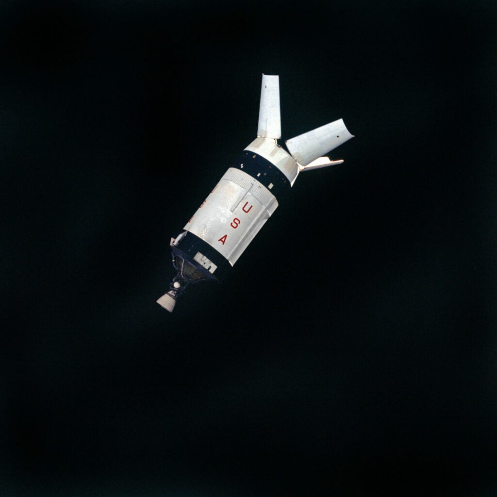 Apollo 7's S-IVB in Orbit