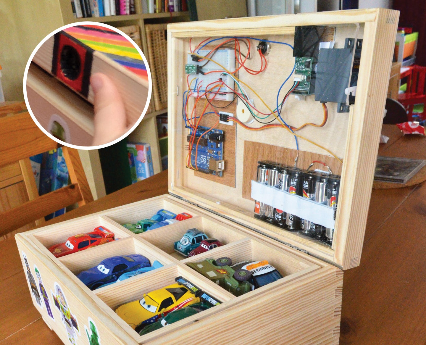 A Toy Box That's Opened By A Kid's Fingerprint