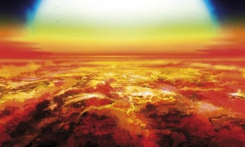 This giant exoplanet's atmosphere teems with glowing hot atoms of titanium and iron
