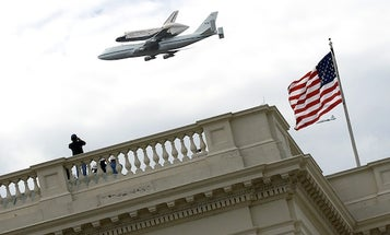 Space Shuttle Discovery Takes a Tour of Washington, D.C.