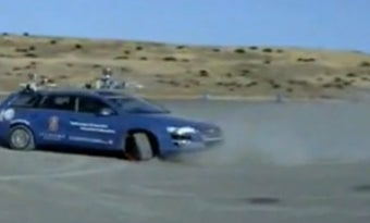 Stanford's Autonomous Car Parallel Parks By Sliding Sideways into Space, Stuntman Style