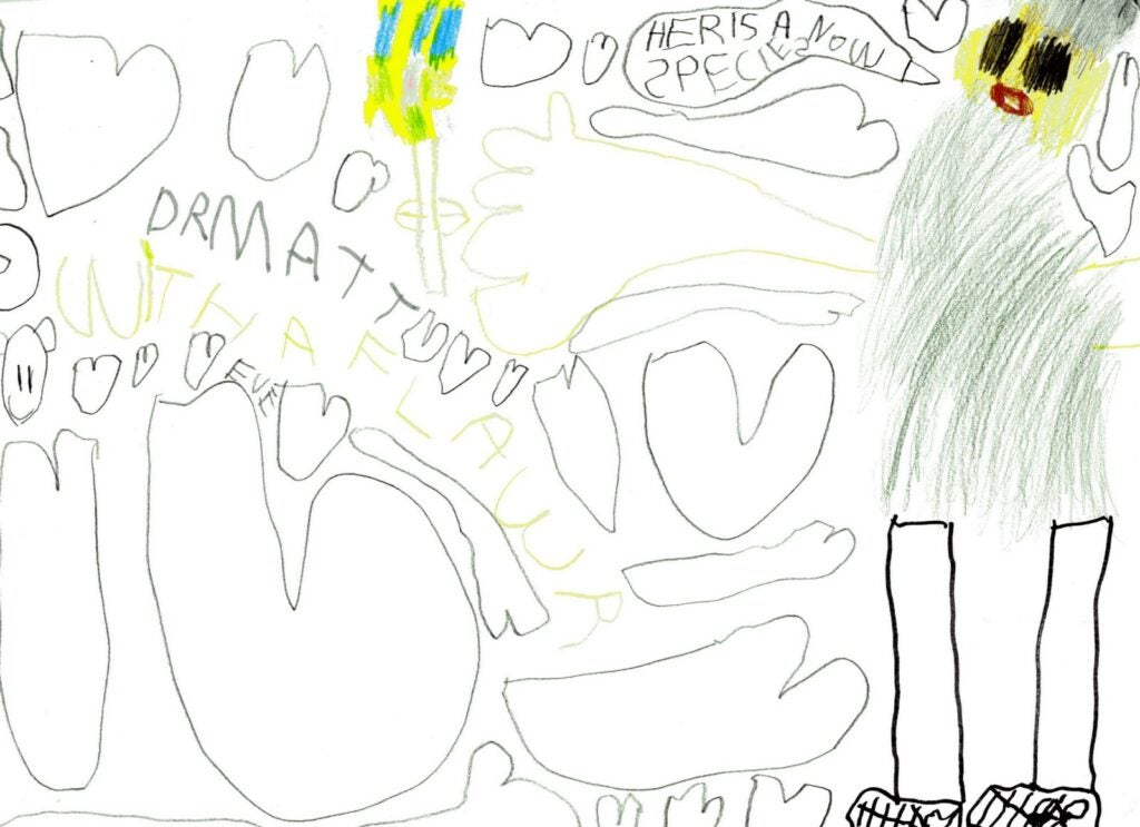 Drawing by Eve, four-year-old citizen scientist.