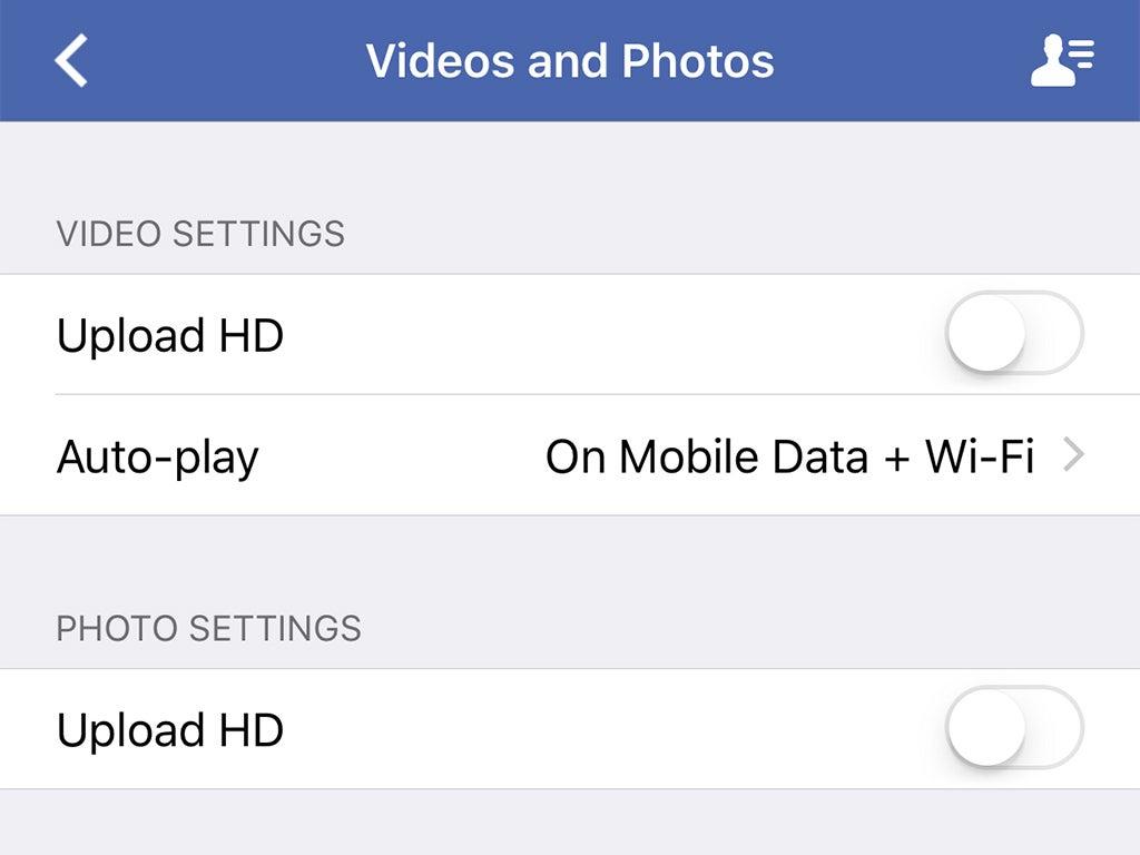 App data settings