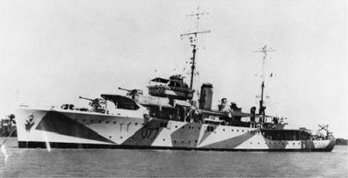 ship with dazzle camo