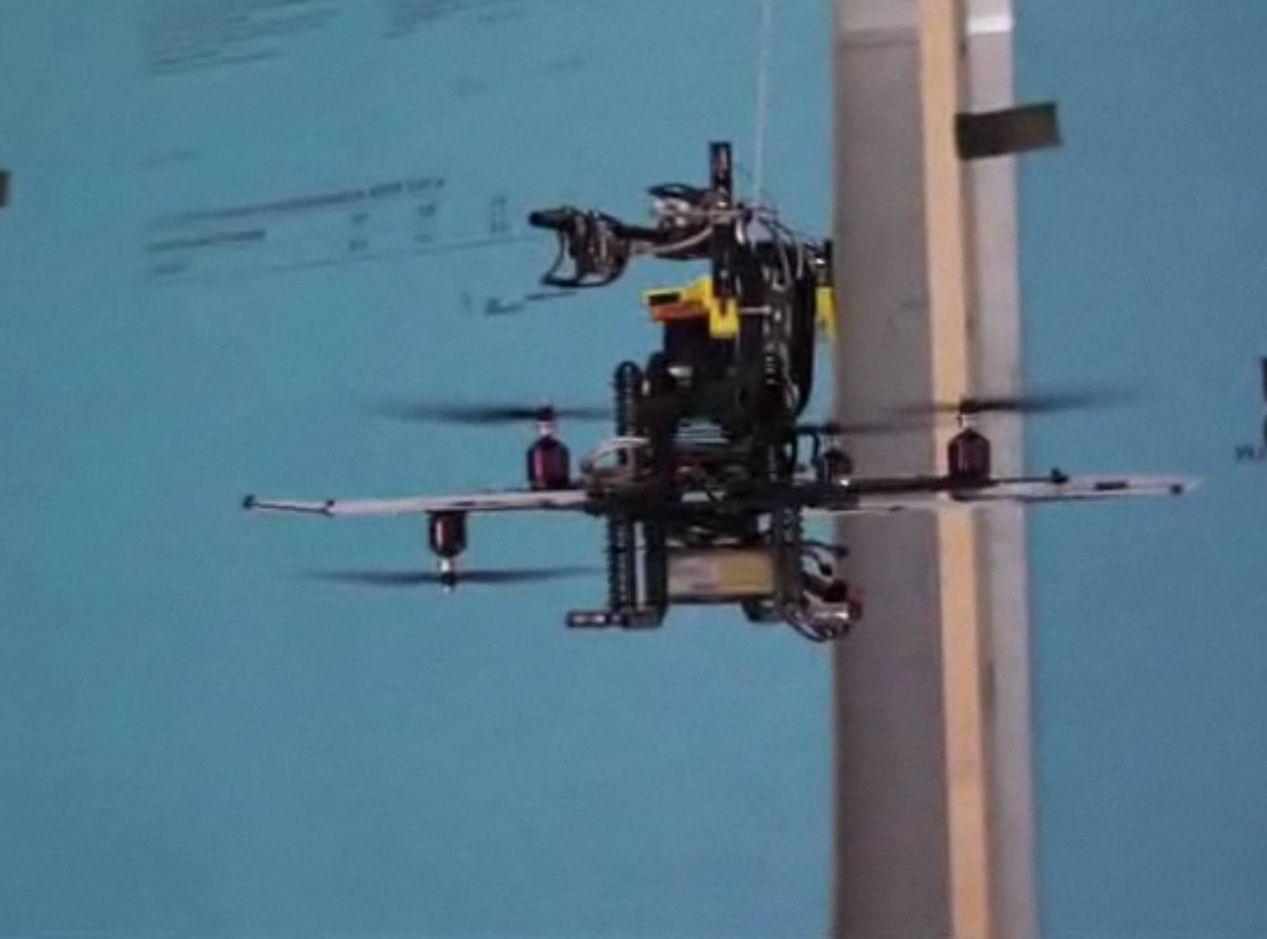 Video: Autonomous Indoor Copter Drone Steers with Laser Scanner