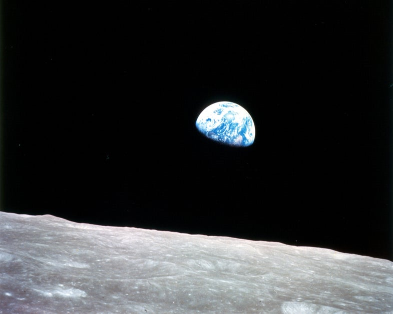 Earth sean from the moon