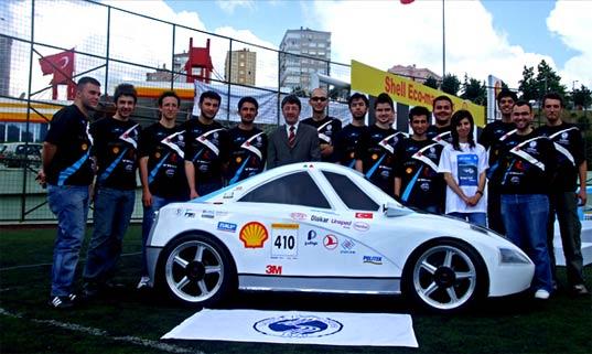 Turkish Students Create Hydrogen-Powered 1300-MPG Car