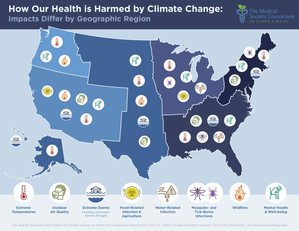 climate change health impact map