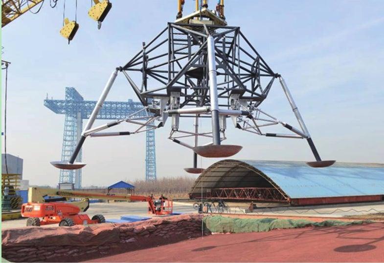 China manned lunar mission landing gear