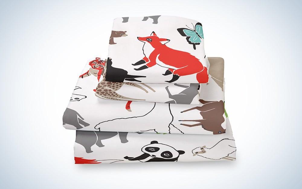 Where The Polka Dots Roam Animal Queen Sheet Set