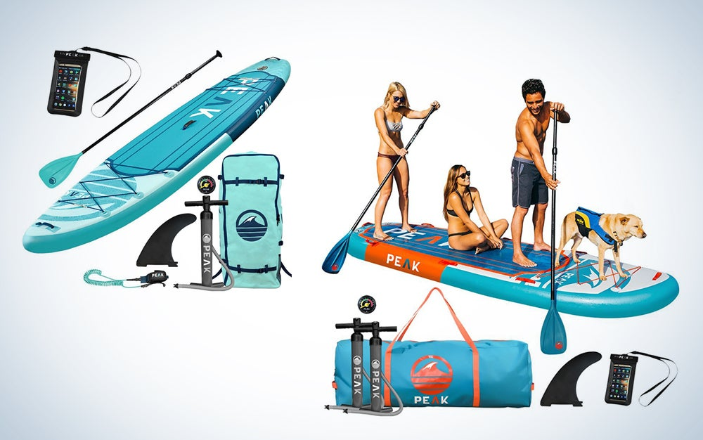 Peak inflatable paddle boards