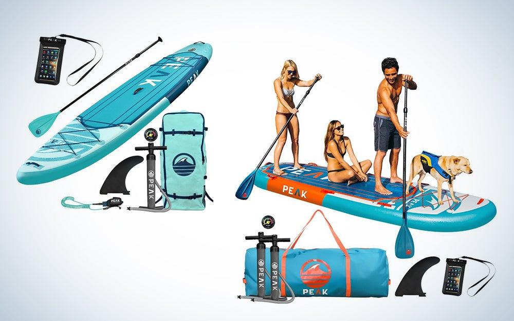 Peak inflatable paddle boards