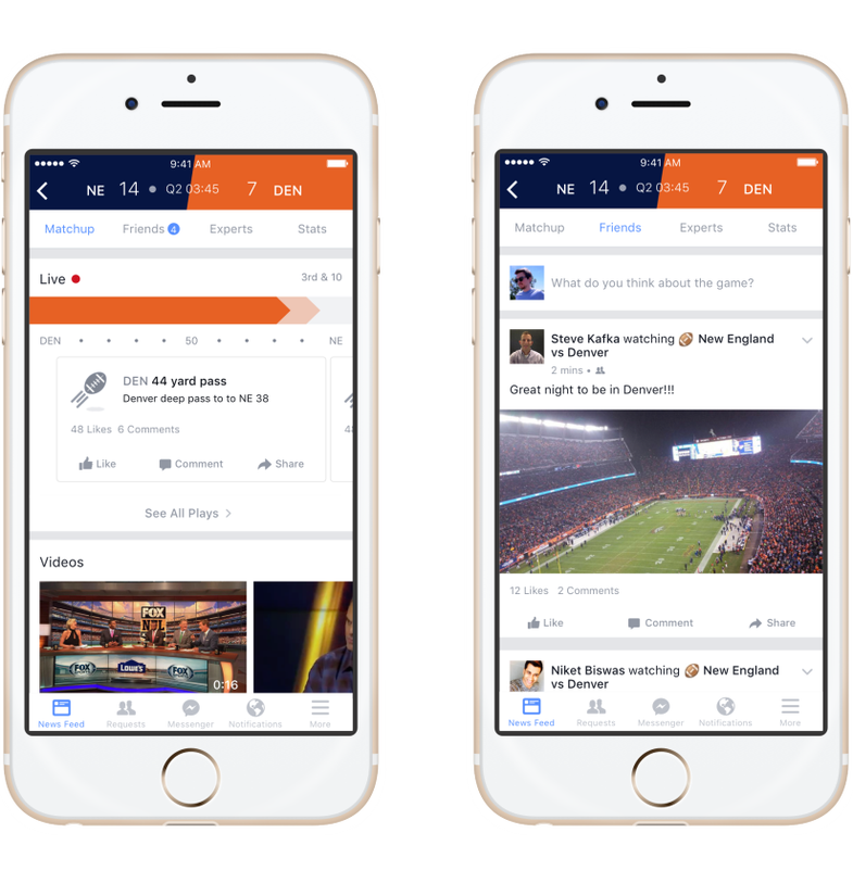 Facebook Wants To Be Your Second-Screen Sportscenter