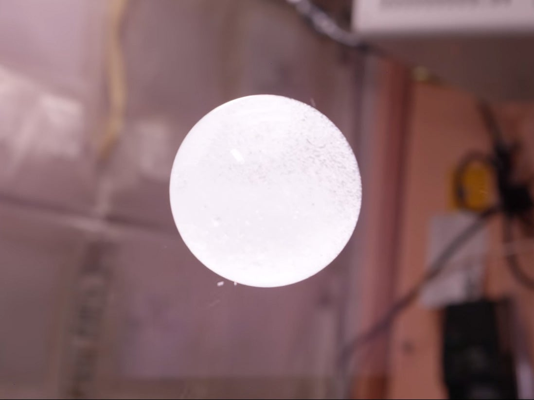 Watch A Fizzy Orb Float Through The Space Station In 4K