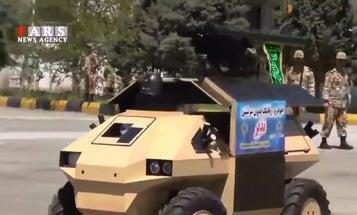 Iran Reveals Small Armed Robot Car