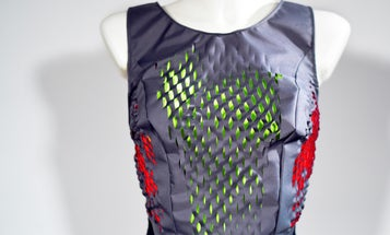A Shape-Changing Shirt Displays How Your Workout Is Going