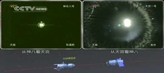 Video: China's Shenzou Spacecraft Successfully Docks With Orbiting Module