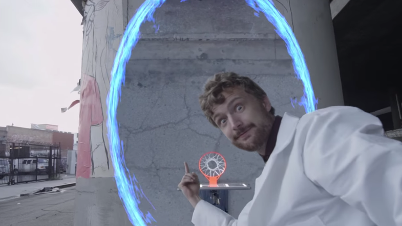 Behind The Scenes Of That Awesome Portal Trick Shot Video