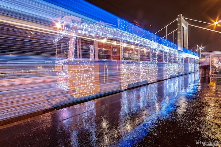 LED Train Paintings And Other Amazing Images From This Week