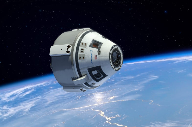 Boeing CST-100 in space