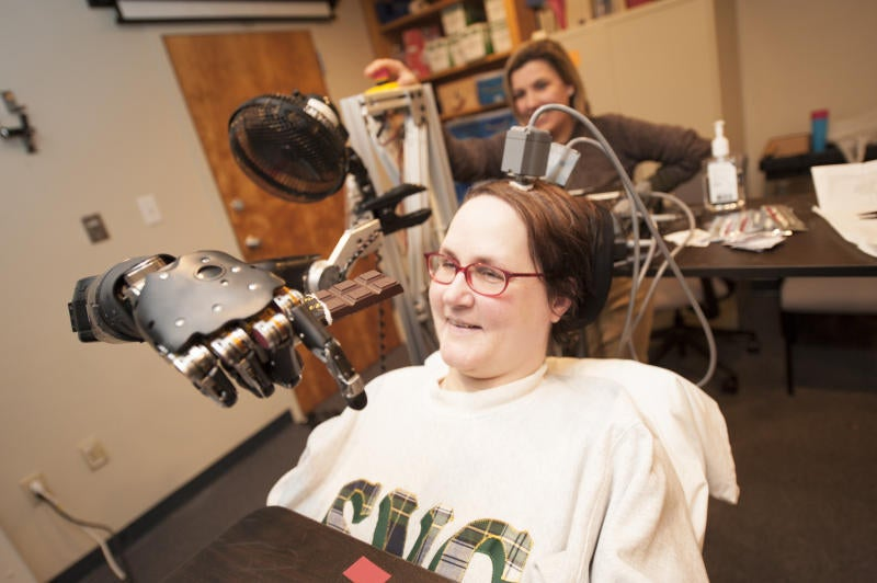 Paralyzed Woman Can Eat A Chocolate Bar, With Graceful Mind-Controlled Prosthetic Arm