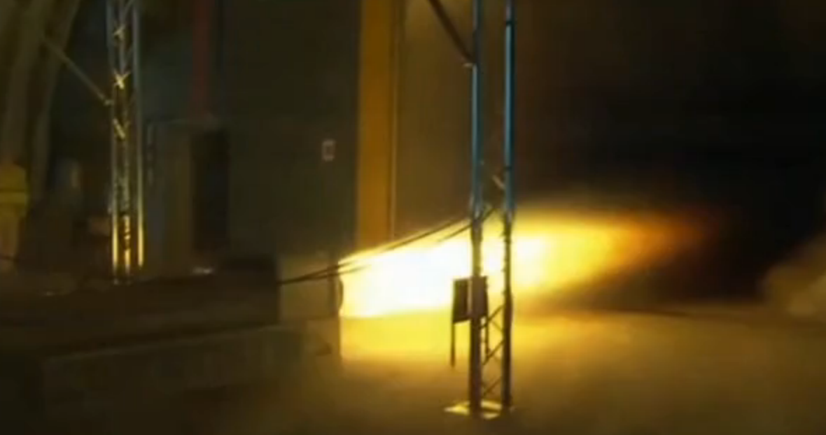 The Bloodhound Supersonic Car Project Test Fires Its Rocket Engine