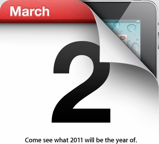 Apple to Announce iPad 2 on March 2nd