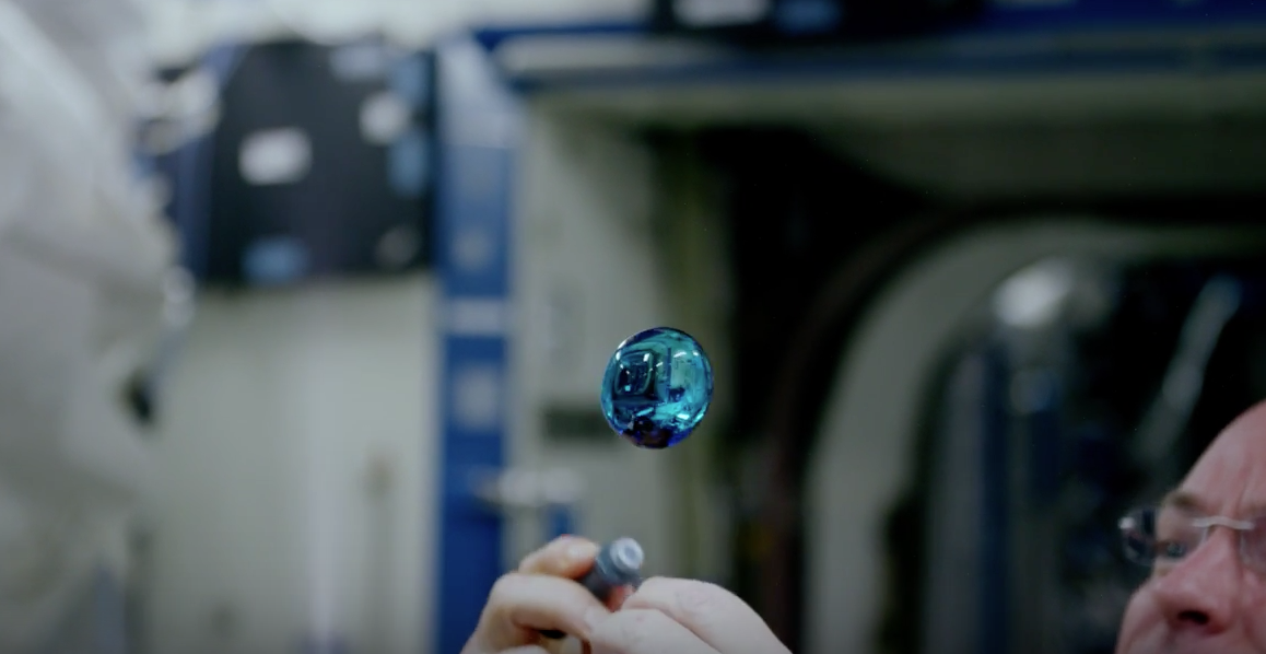 Watch Astronauts Create Colored Orbs Of Water On The ISS