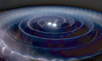 Animation: The Black Hole Collision That Created Today's Gravitational Wave Announcement