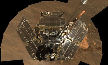 Mars' skies are clearing up, but the Opportunity rover is still fast asleep