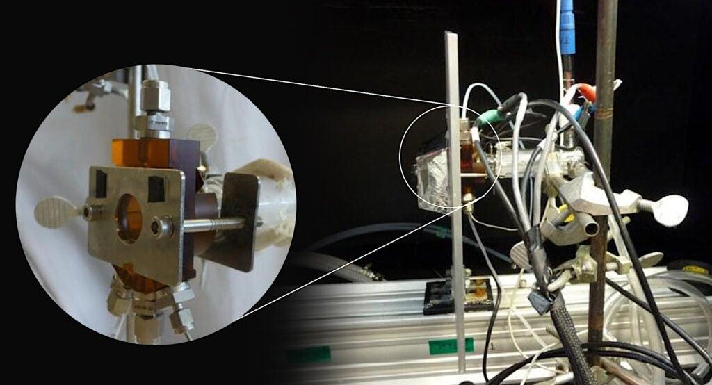 testing a solar cell