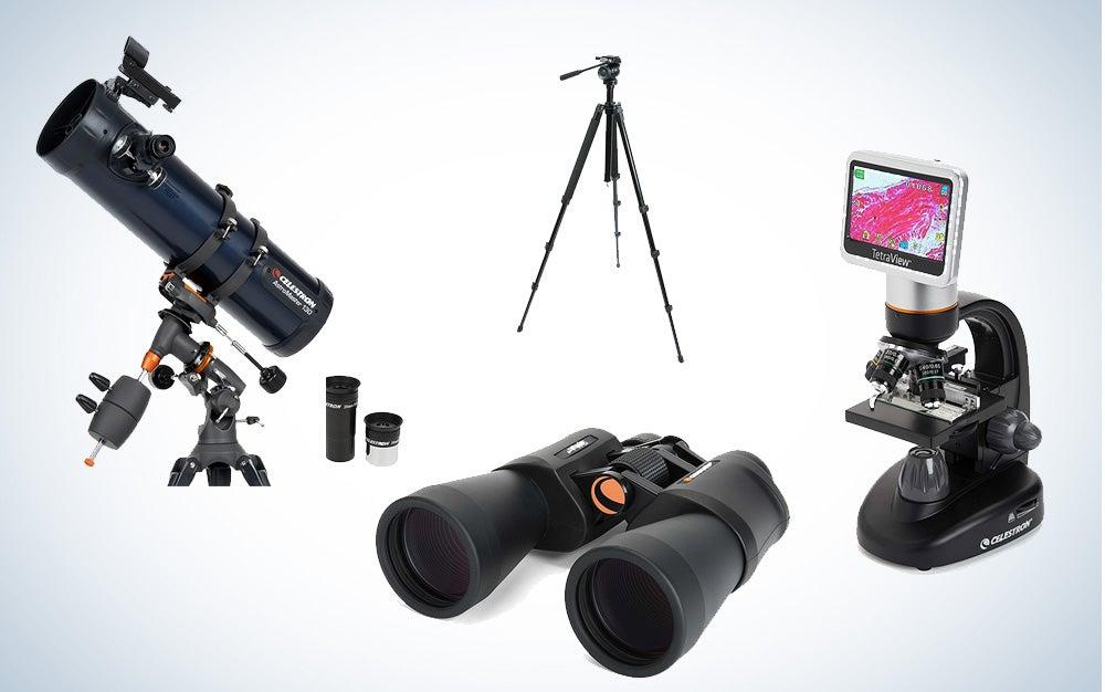 Celestron microscopes, telescopes, and binoculars