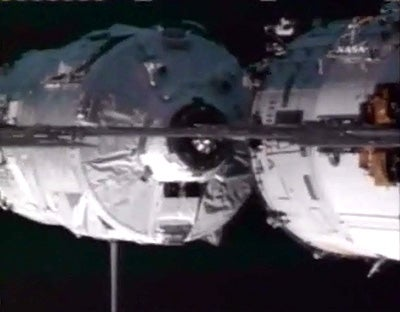 New Spacecraft Links up With ISS