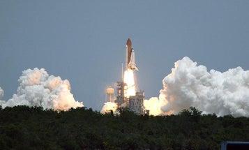 Shuttle Sustains Liftoff Damage