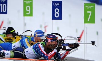 Olympic biathletes learn to shoot between heartbeats