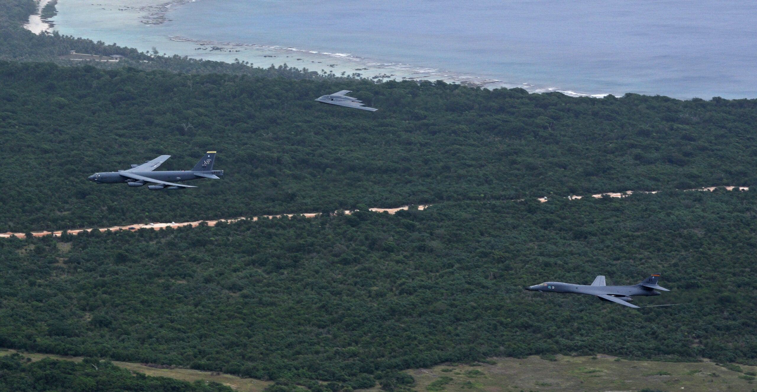 Three Different American Bombers Flew Over Guam