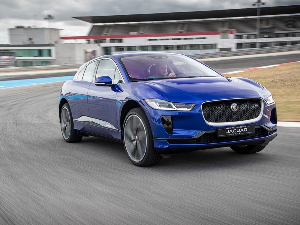 Jaguar I-Pace on the track