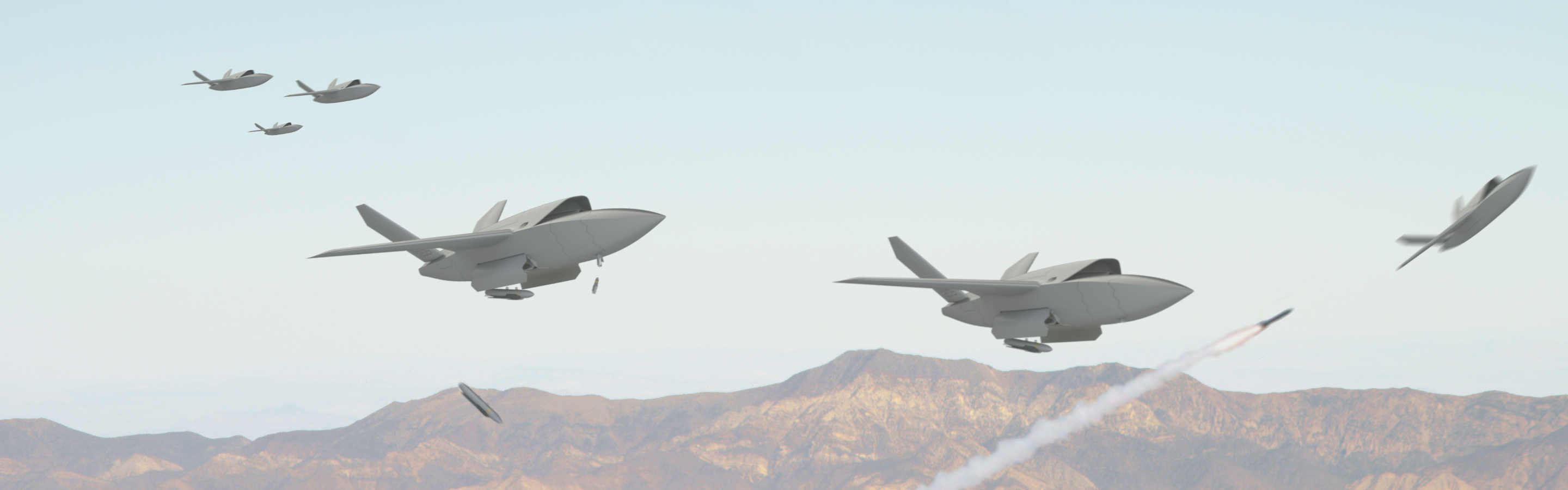 The future of the Air Force is fighter pilots leading drone swarms into battle