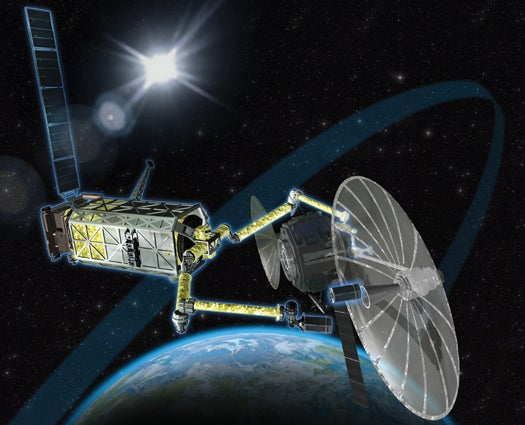 Annotated Machine: How Robots Could Recycle Dead Satellites In Orbit