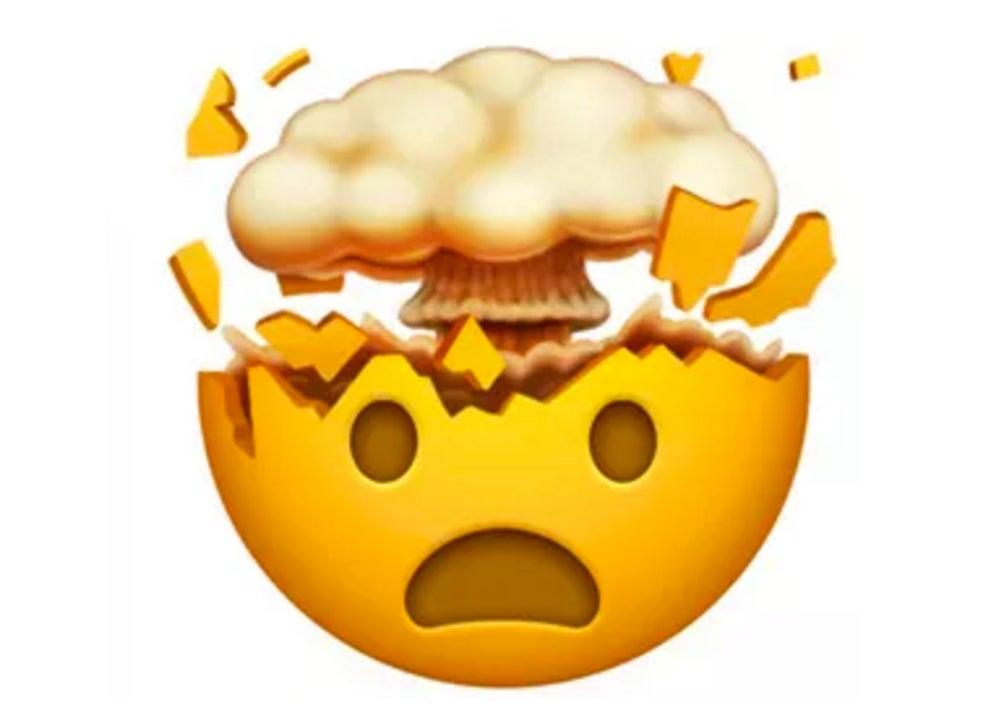 Exploding emoji