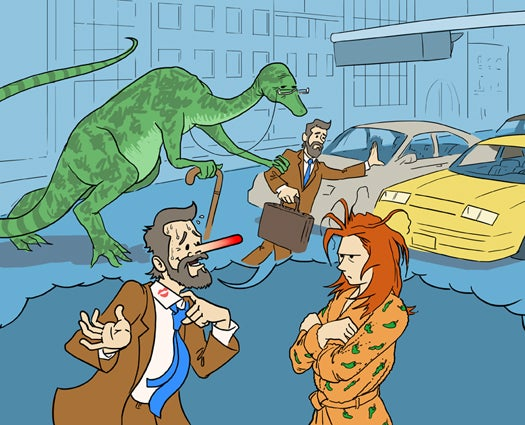 This Week In The Future: You Don't Understand! It Was A Dinosaur!
