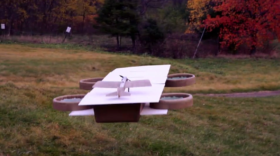 Watch A Drone Take Off From Another Drone