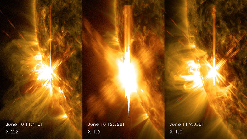 Big Pic: The Sun Emitted Three Enormous Flares In 24 Hours