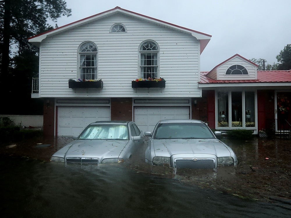 flooded home after Hurricane Florence