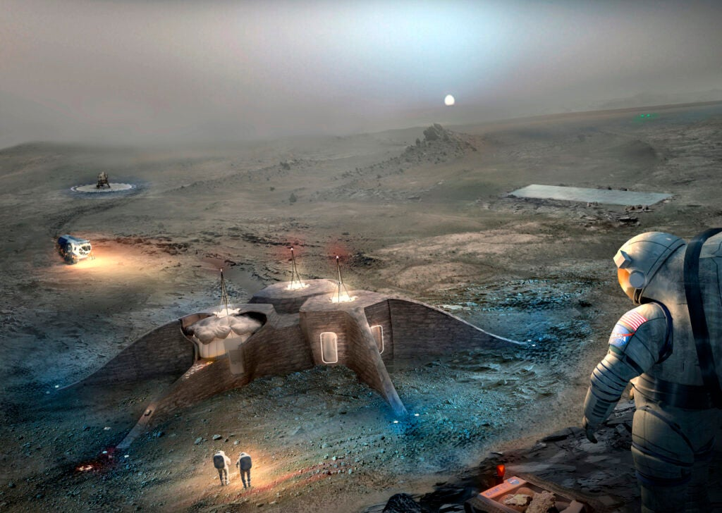 Concept for a 3D-printed Martian shelter
