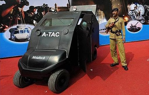 Tiny Armored Car Unveiled as India's Newest Anti-Terror Weapon