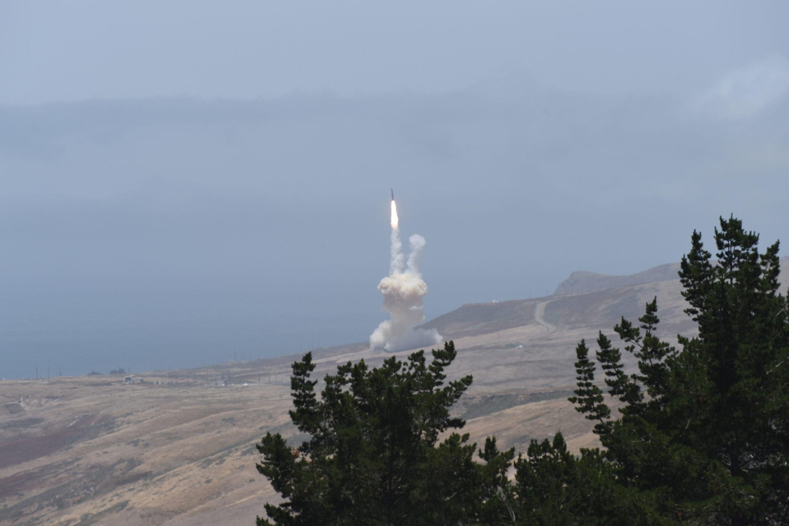 launch of a ballistic missile interceptor
