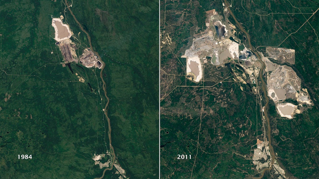 Athabasca oil sands satellite images