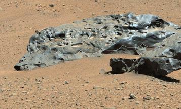 Big Pic: A Six-Foot-Long Iron Meteorite On Mars