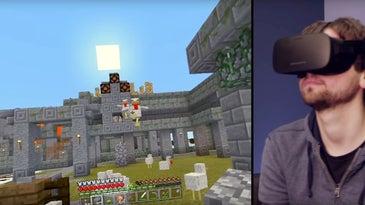 Screenshot of Minecraft VR for the Oculus Rift